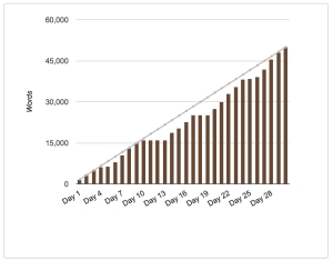 NaNoWriMo 2017 Graph | Reghan Skerry