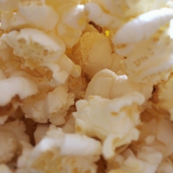Close-up photo of popped popcorn. Photo by Reghan Skerry.