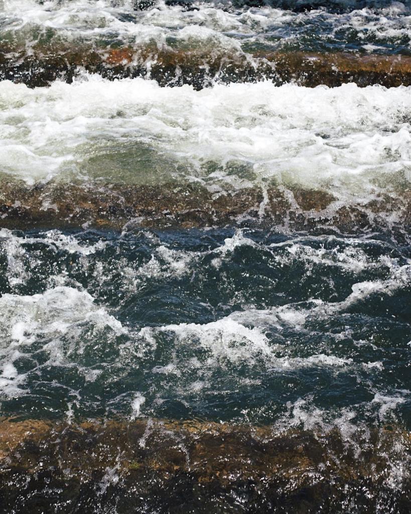 Rushing water. Photo by Reghan Skerry.
