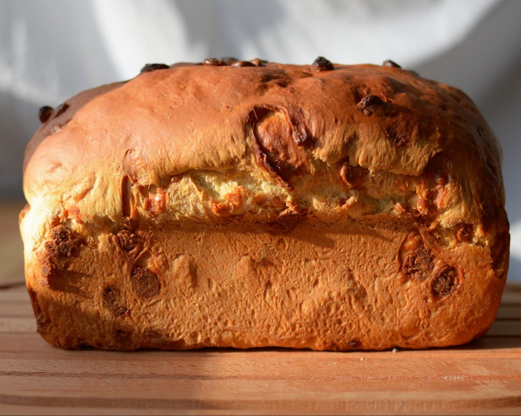 A loaf of orange & caramelized white chocolate bread. Photo by Reghan Skerry.