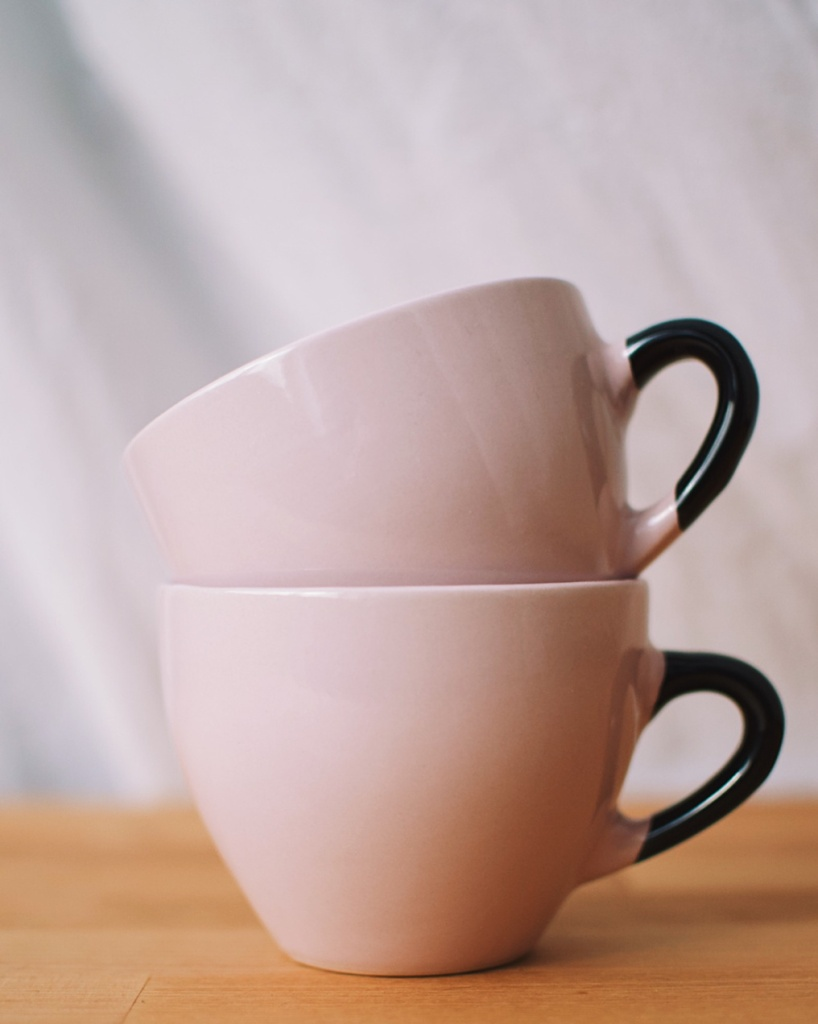 Two stacked mugs. Photo by Reghan Skerry.