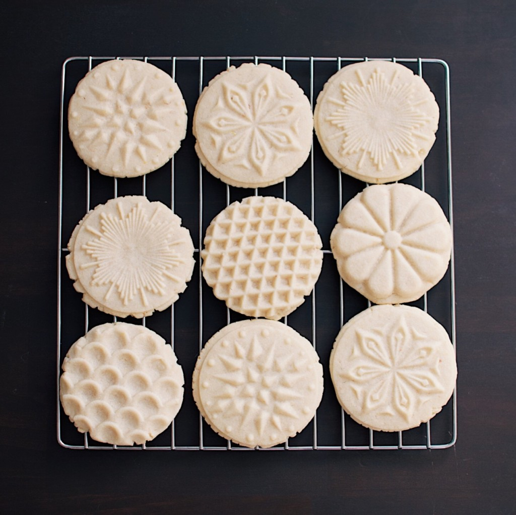 Almond cookies with festive designs. Photo by Reghan Skerry.