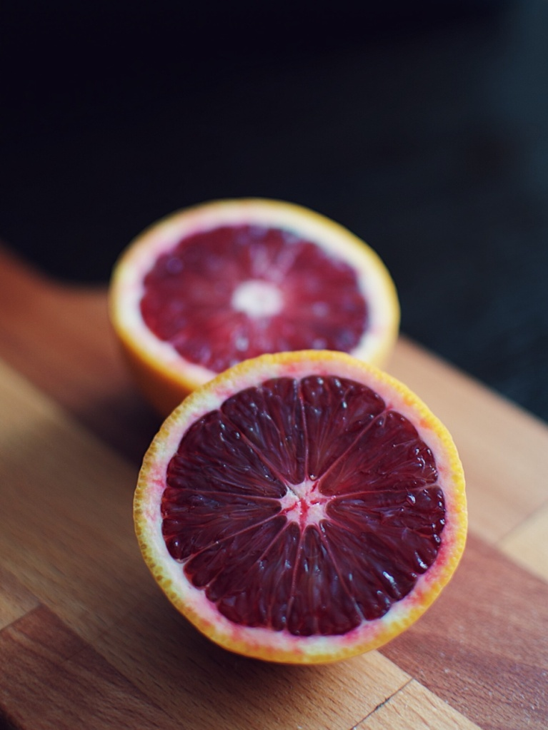 Blood orange sliced in half. Photo by Reghan Skerry.