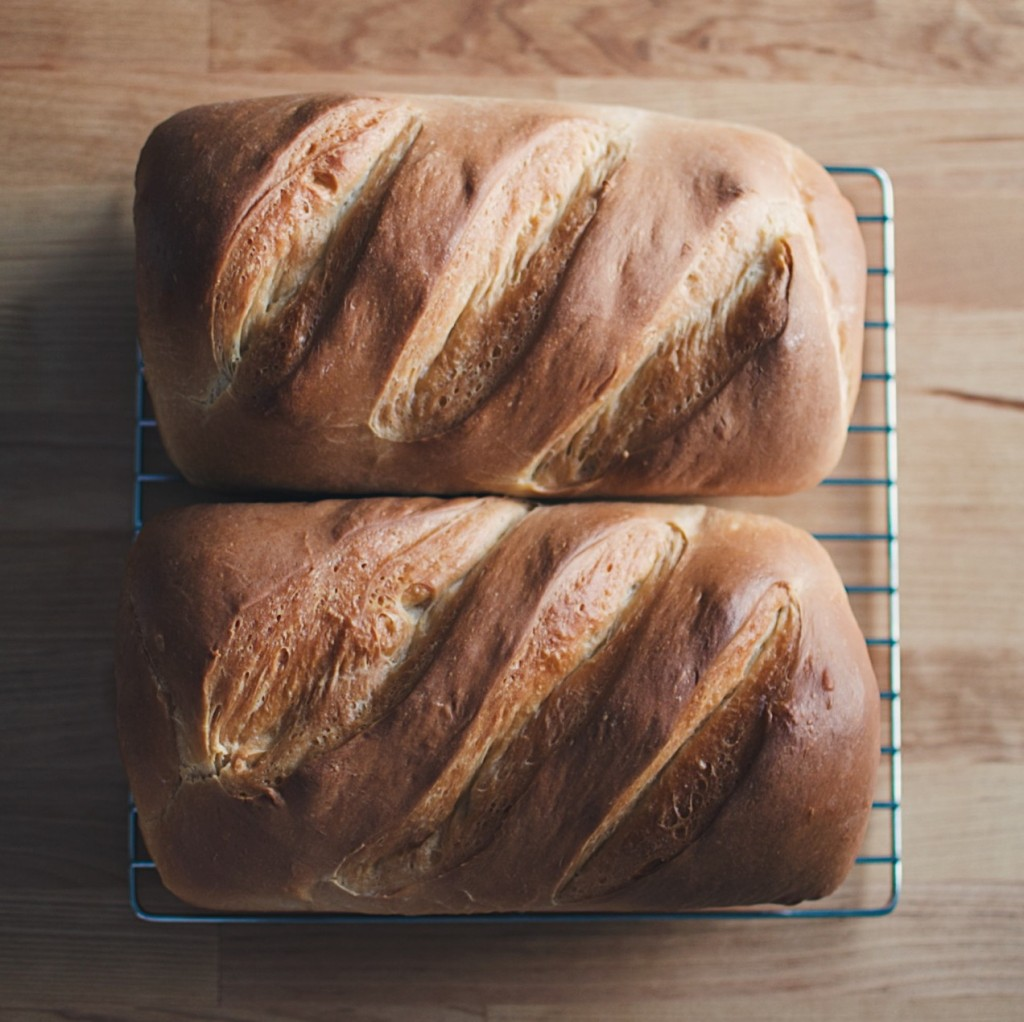Two loaves of fresh-baked bread. Photo by Reghan Skerry.